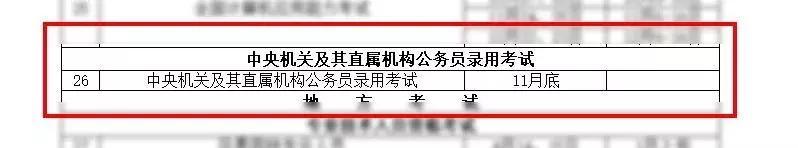 2019年公务员国考 各省公务员考试报名时间安排